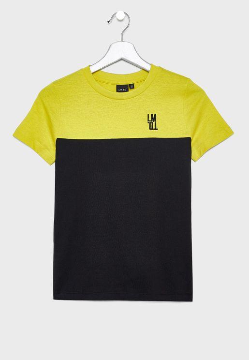Teen Color Block Organic Cotton T-Shirt
