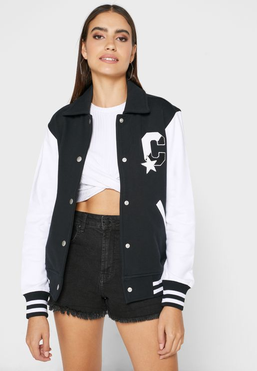 Twisted Varsity Knitted Jacket