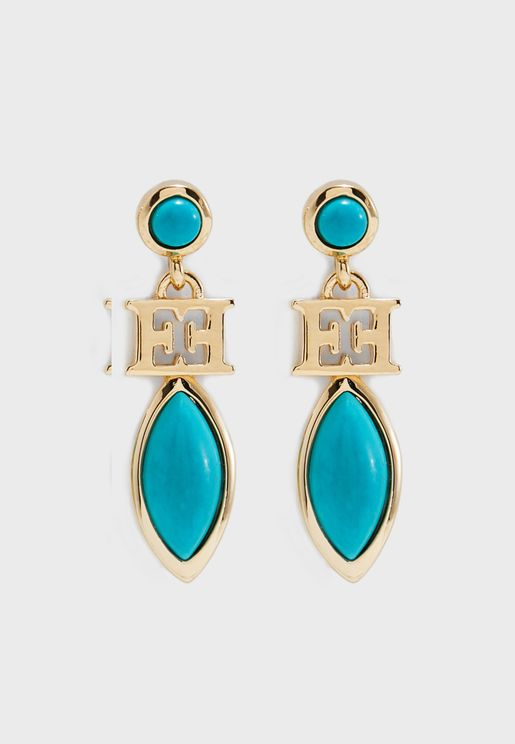 Turq Stone Earrings