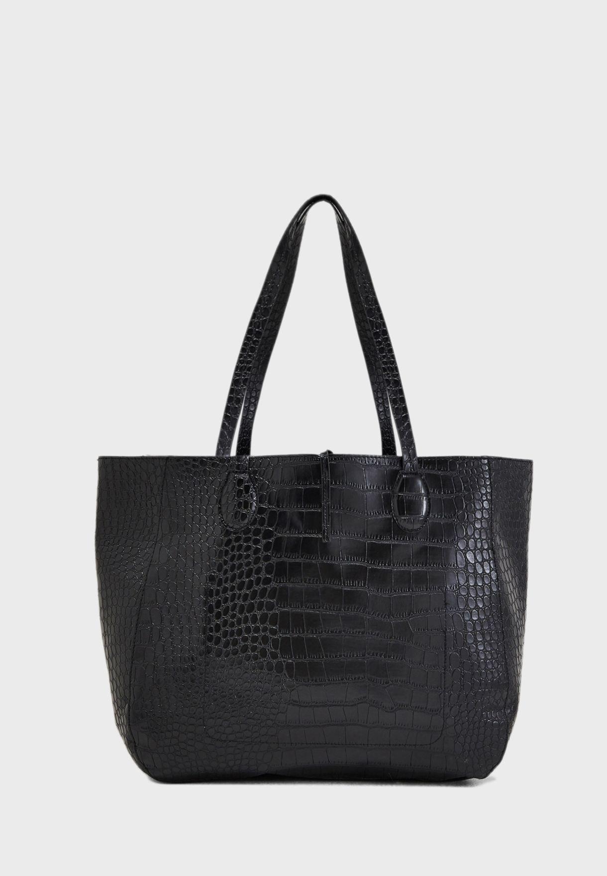 Tote Bag In Mock Croc