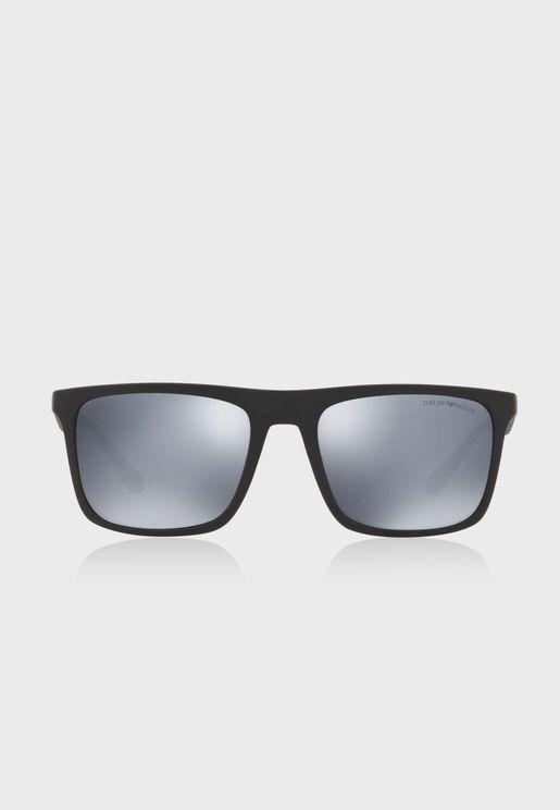 0EA4097 Square Sunglasses