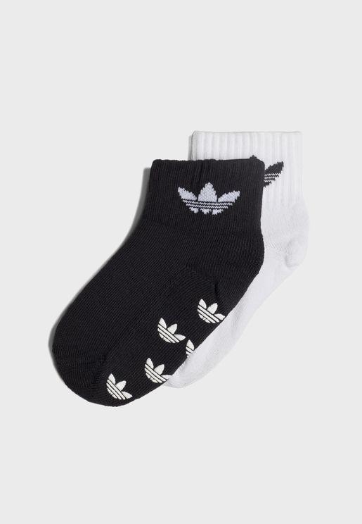 Youth 2 Pack Trefoil Ankle Socks