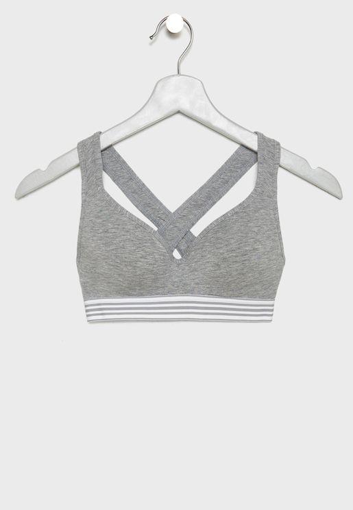 Cross back T-Shirt Bra