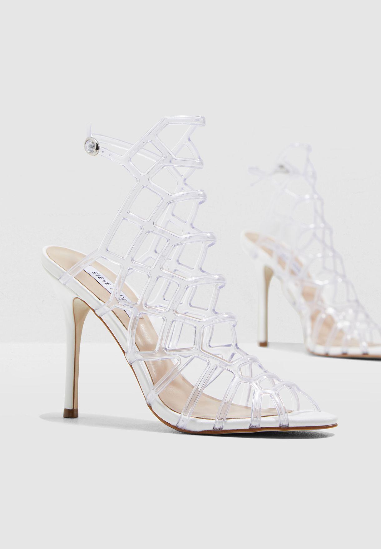 f3b0a05458b Shop Steve Madden white Score Heel Sandal SCORE for Women in Kuwait ...