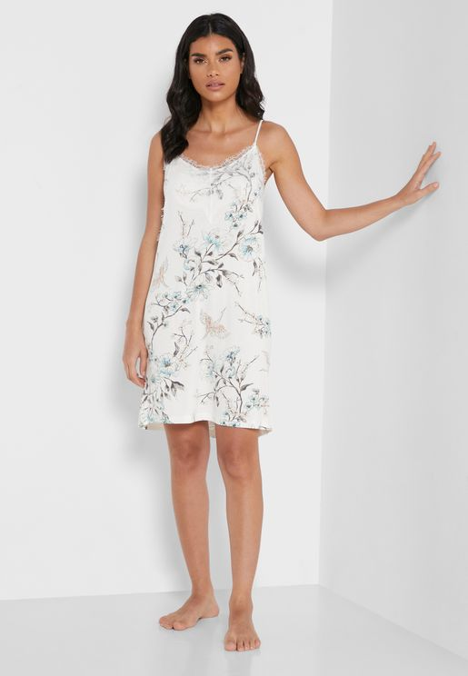 Floral Printed Nightdress
