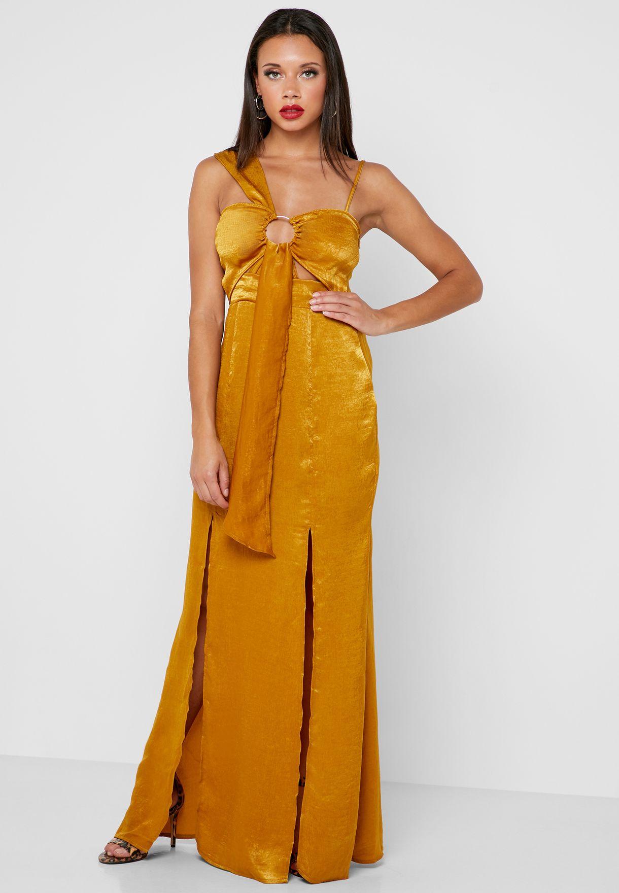 فستان بشقان جانبيان