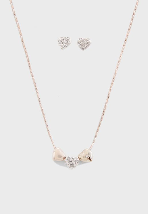 With Love Necklace+Earrings Set