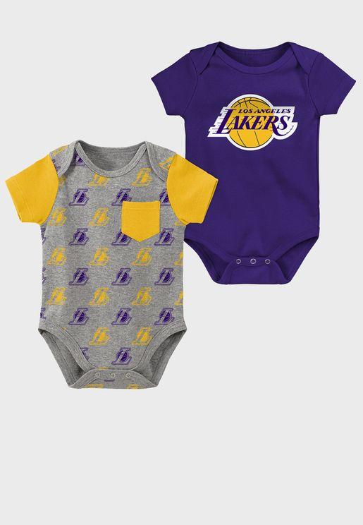 Infant Pack Los Angeles Lakers Little Shooter Bodysuit