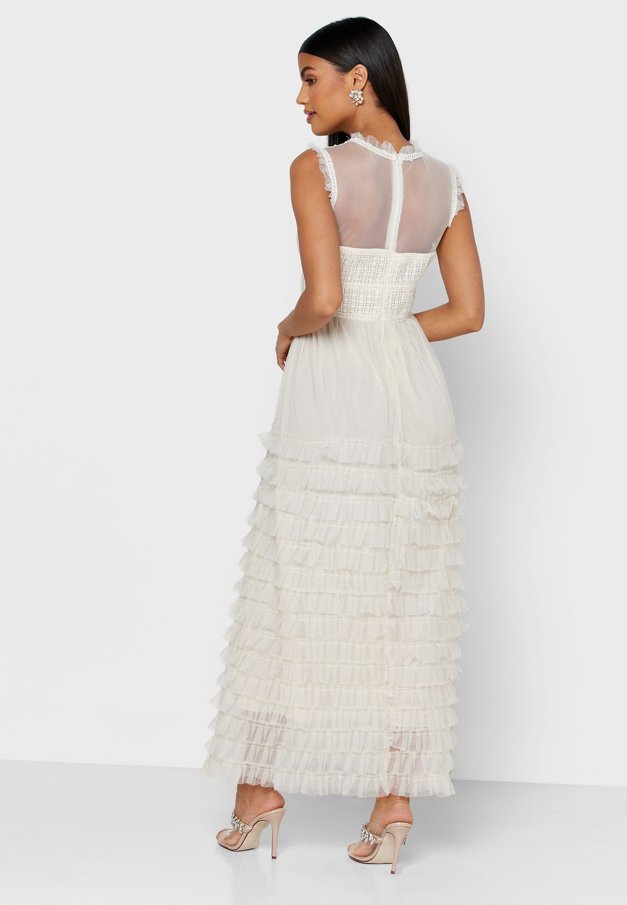 Tiered Mesh Dress