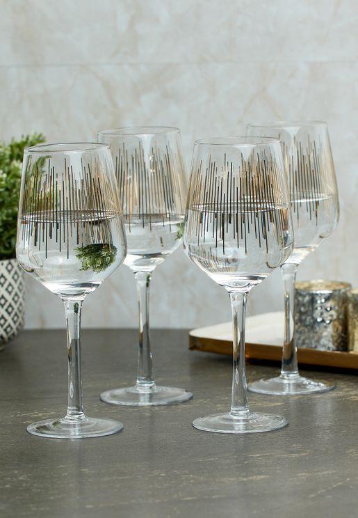 Set of 4 Deco Glasses