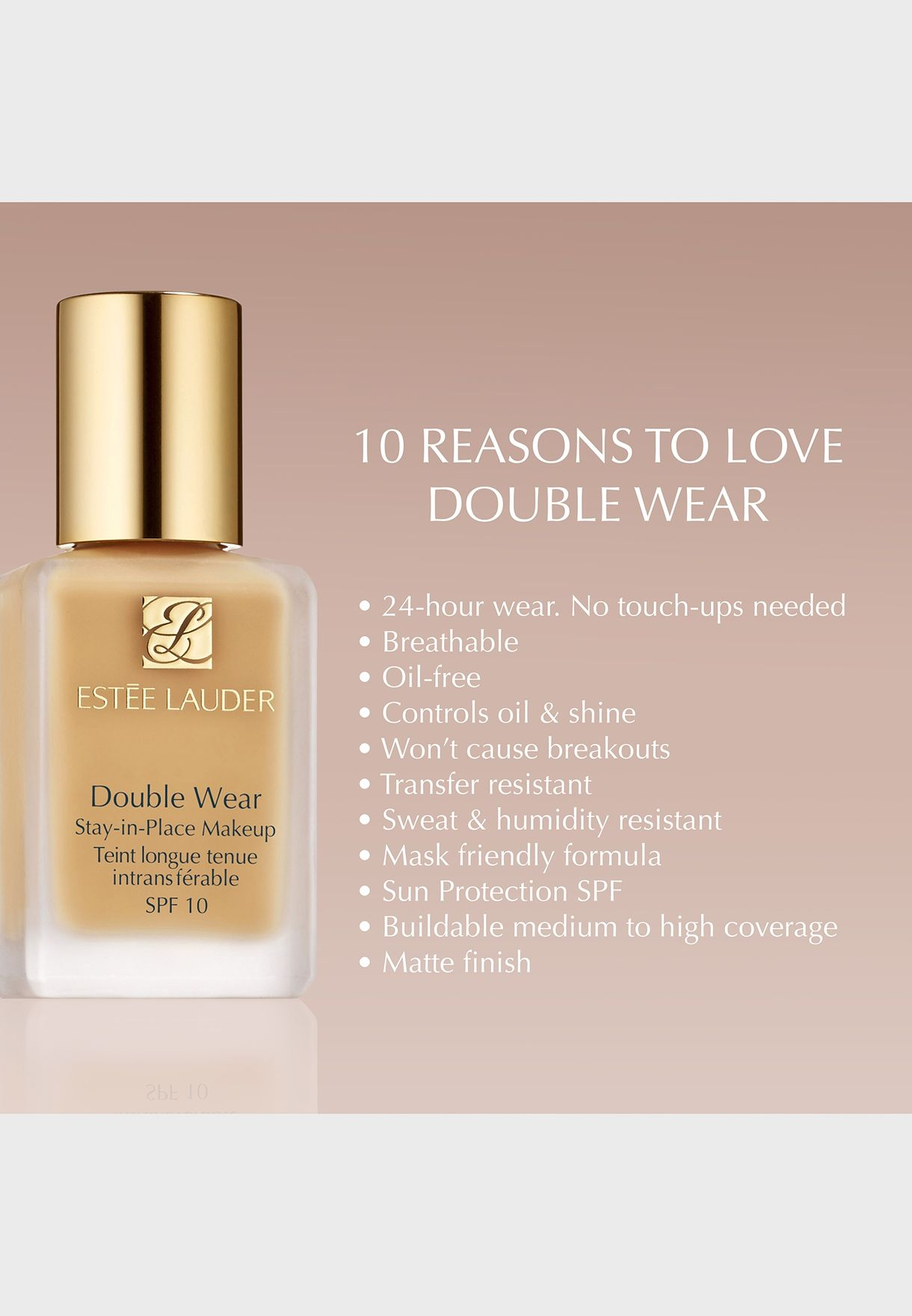Double Wear Stay In Place Foundation-Tawny