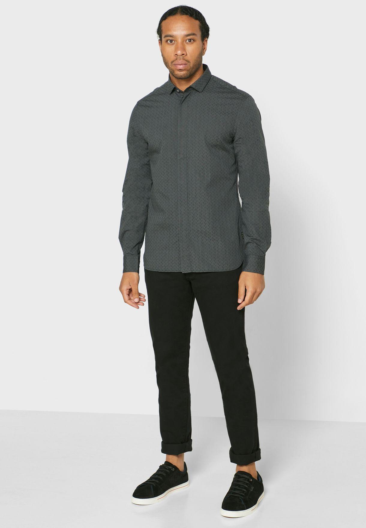 Rodney Printed Slim Fit Shirt