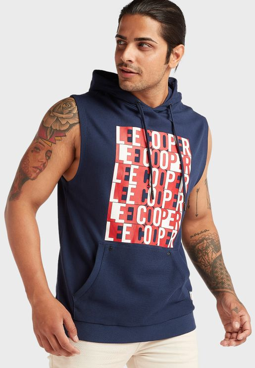 Graphic Hooded Vest