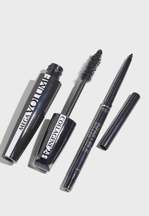 Mega Volume Collagen Mascara + Eyeliner Set
