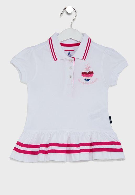 Little Puff Sleeve Polo Dress