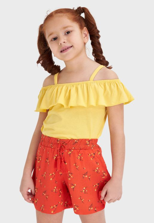 Kids Off Shoulder Top