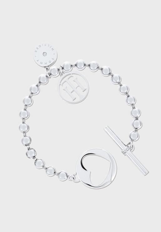 Toggle Heart Bracelet
