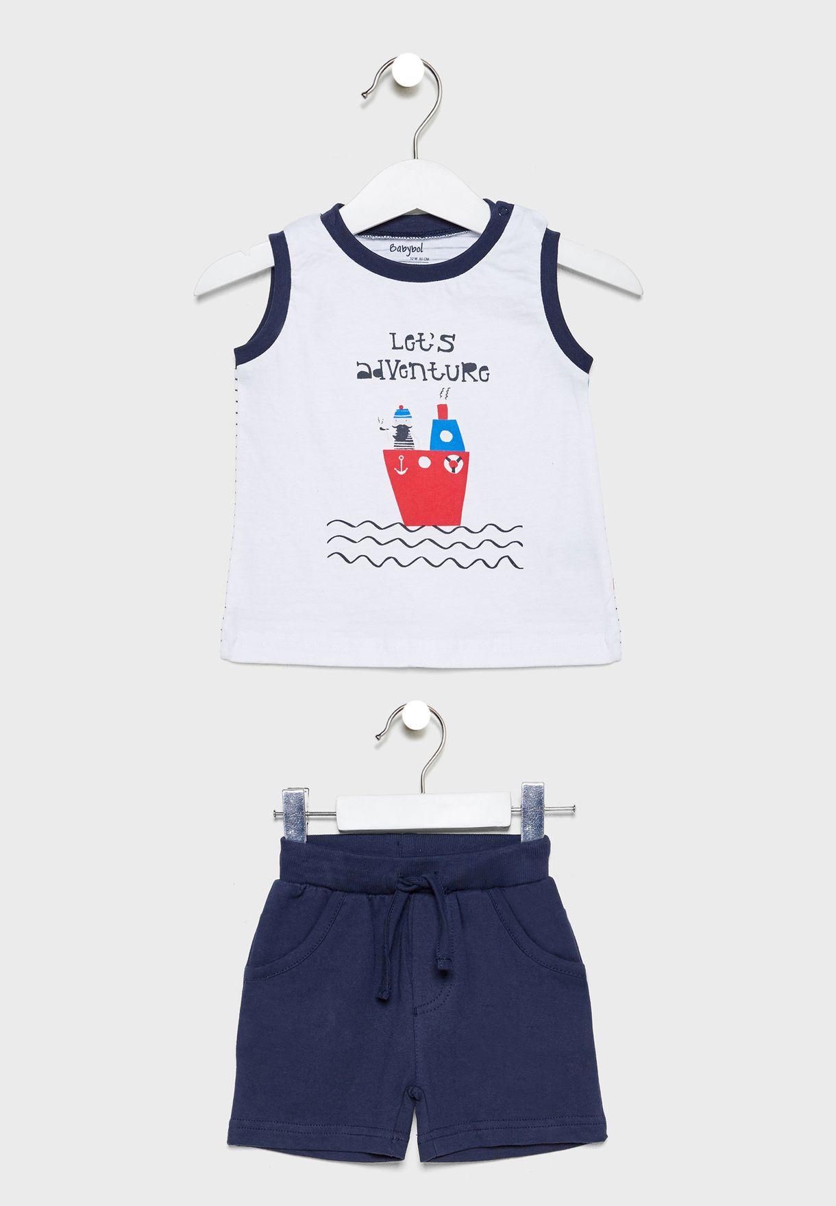Infant 3 Piece Printed Set