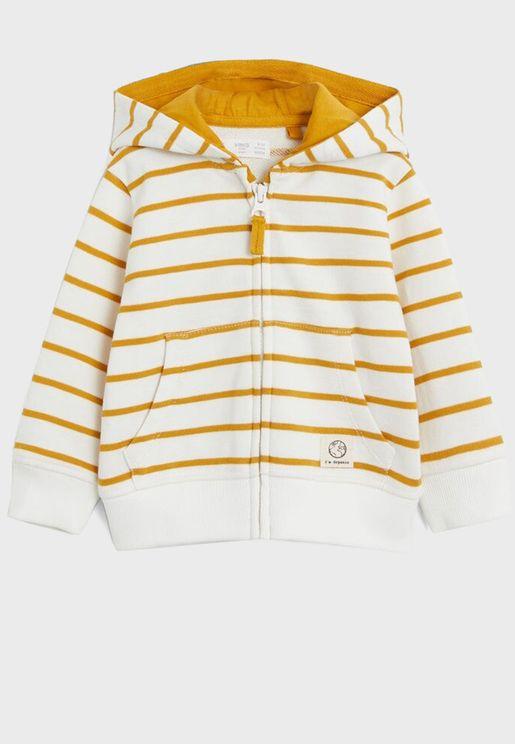 Infant Striped Hoodie