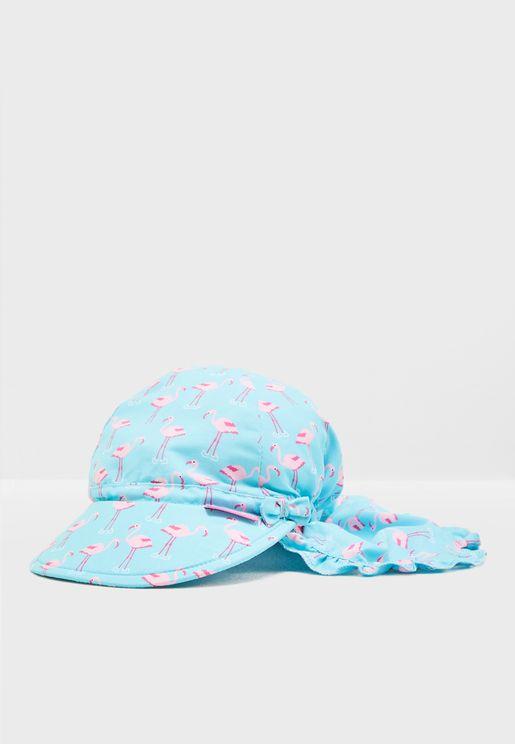 Kids Printed Flap Hat
