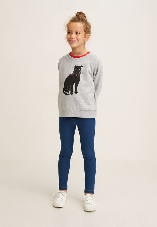 Kids Denim Jeggings