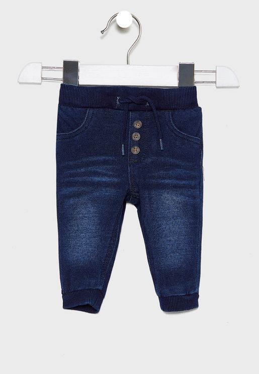 Kids Button Detail Jogg Jeans