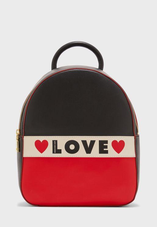 Love Print Backpack