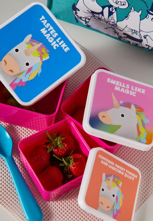 Jolly Awesome Set Of 3 Unicorn Snack Boxes