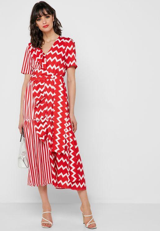 فستان مطبع انيق