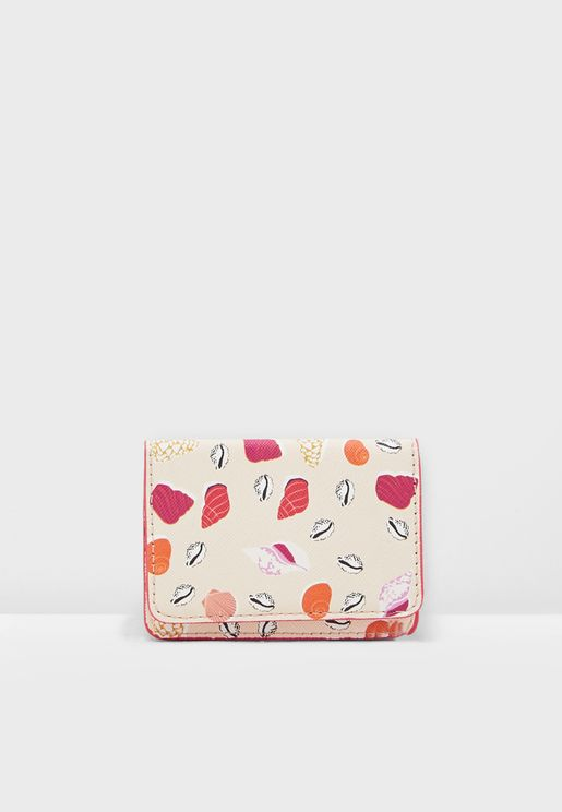 Caracola Seashell Printed Cardholder