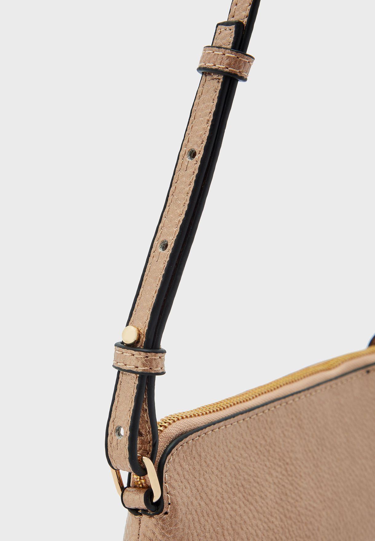 Top Zip Belted Crossbody