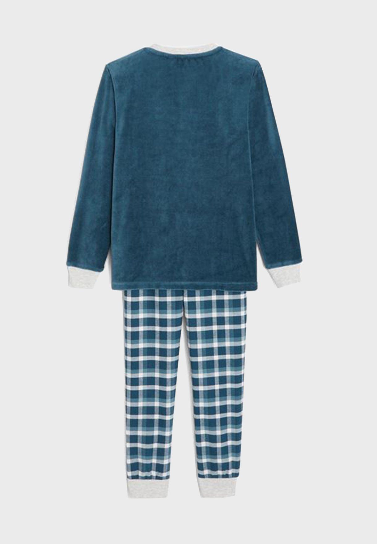 Kids Graphic T-Shirt + Pyjama Set