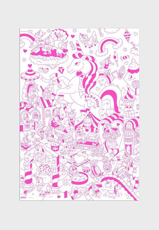 Large Lily Unicorn Poster