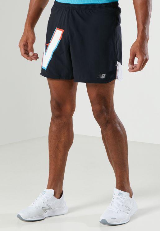 """5"""" Impact Run Printed Shorts"""