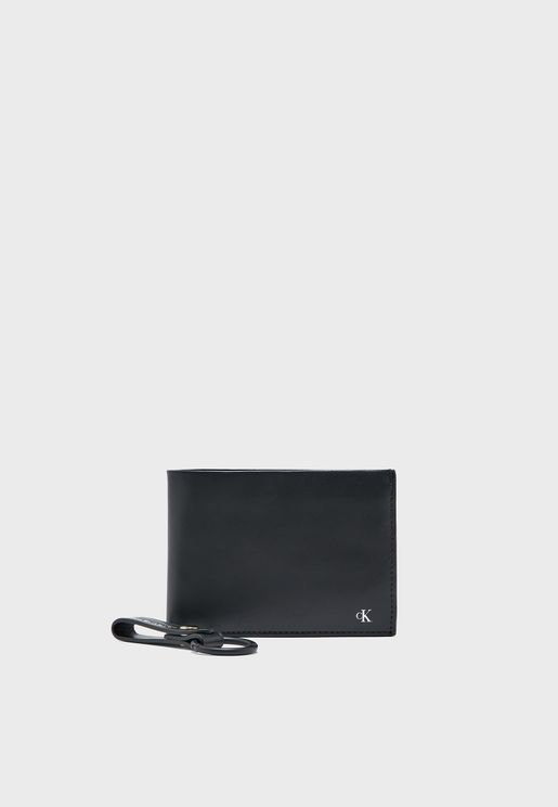 Embossed Wallet + Keyring Gift Set