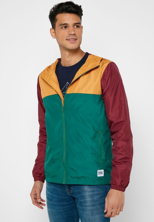Skara Wind Breaker Color Block Hoodie