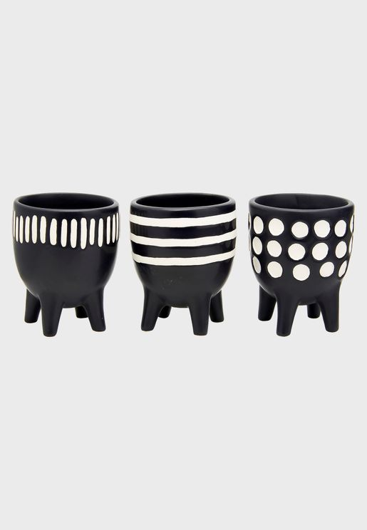 3 Pack Little Scandi Planters with Leg