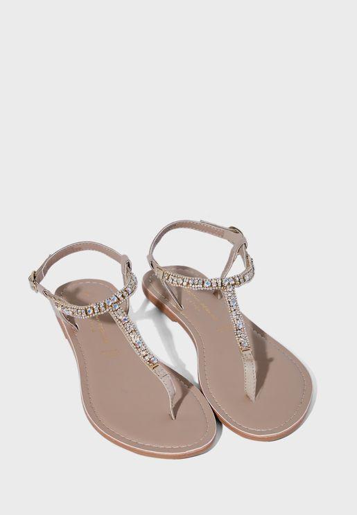 Jules Flower Toe Sport Flat Sandal
