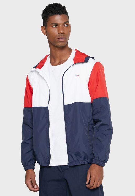 Color Block Windbreaker Jacket