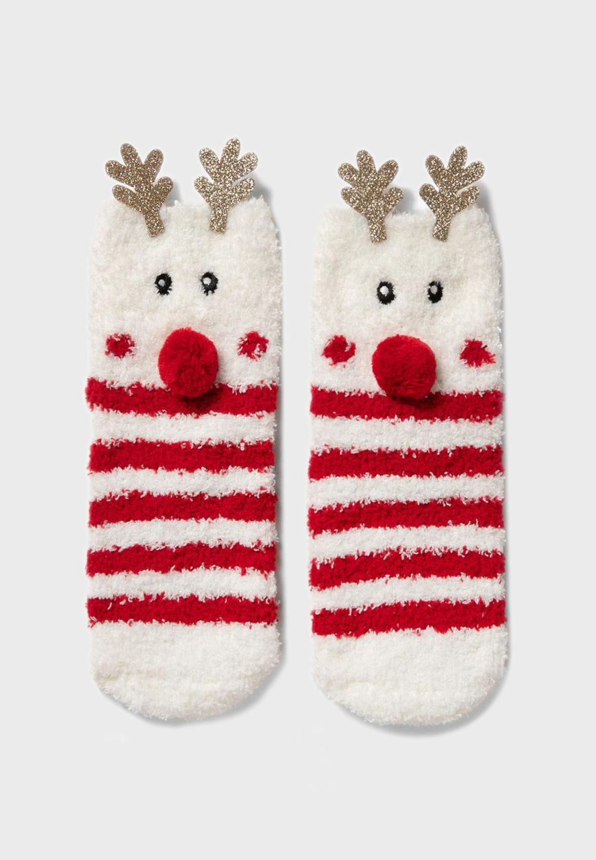 Kids Reindeer Socks
