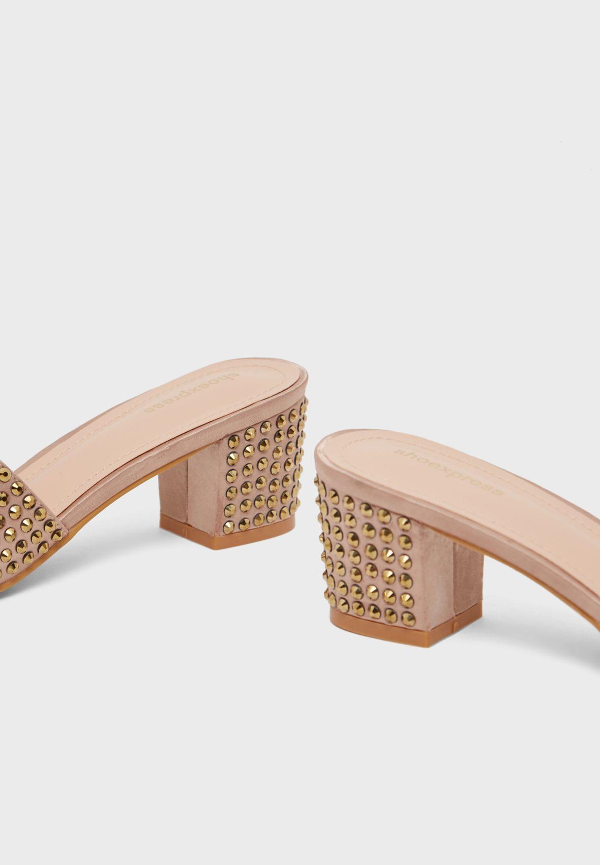 Studded Wide Strap Sandal