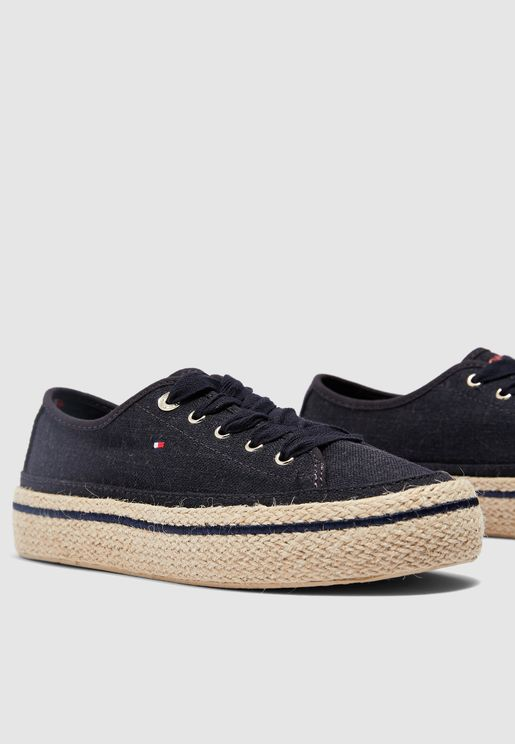 Jute Detail Flatform Sneaker