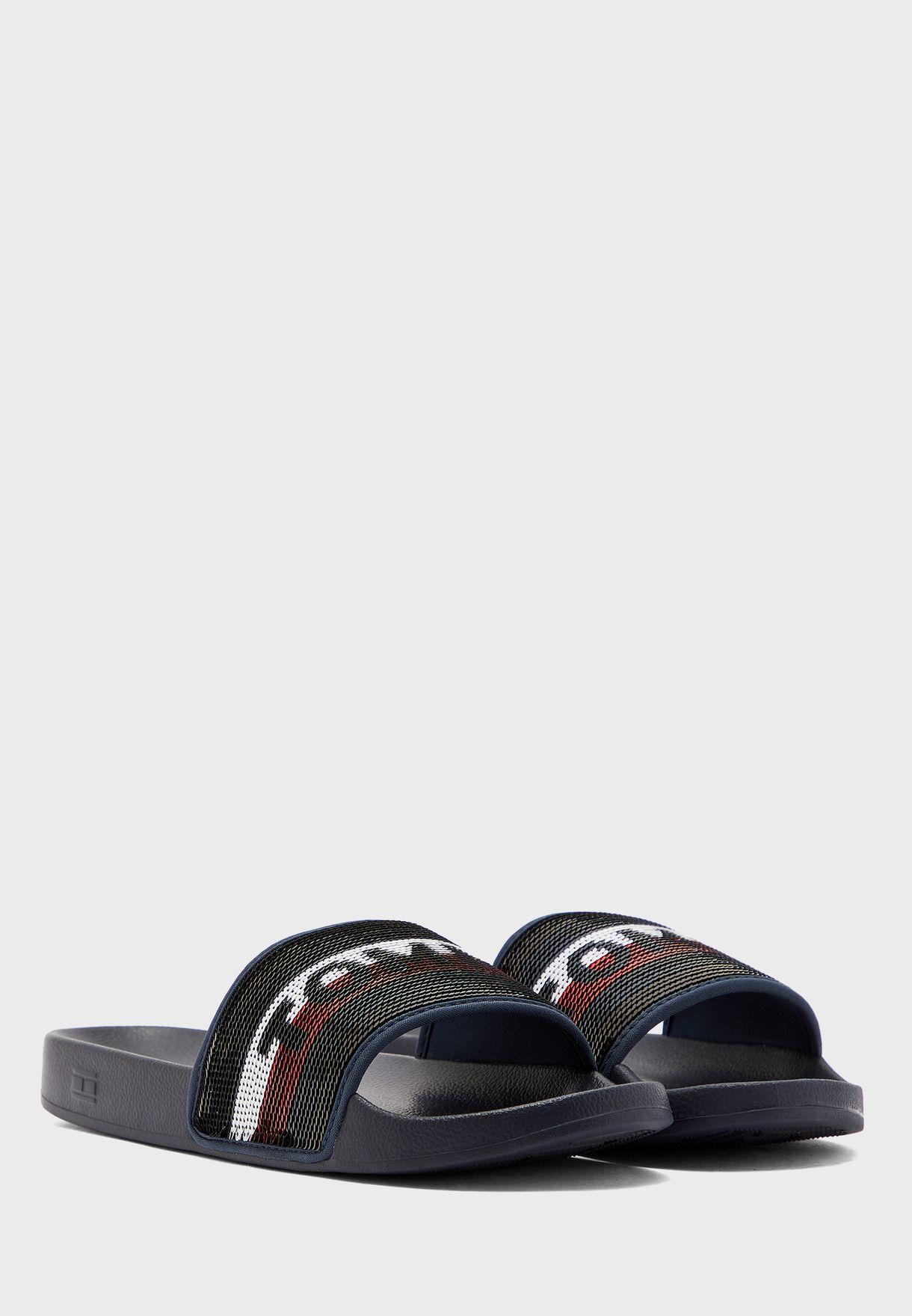 Tommy Sequins Pool Flat Sandal - DWS