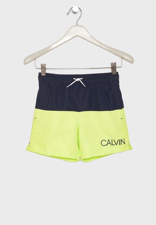 Teen Tie Waist Logo Swim Shorts