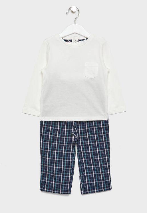 Infant Checked Pyjama Set