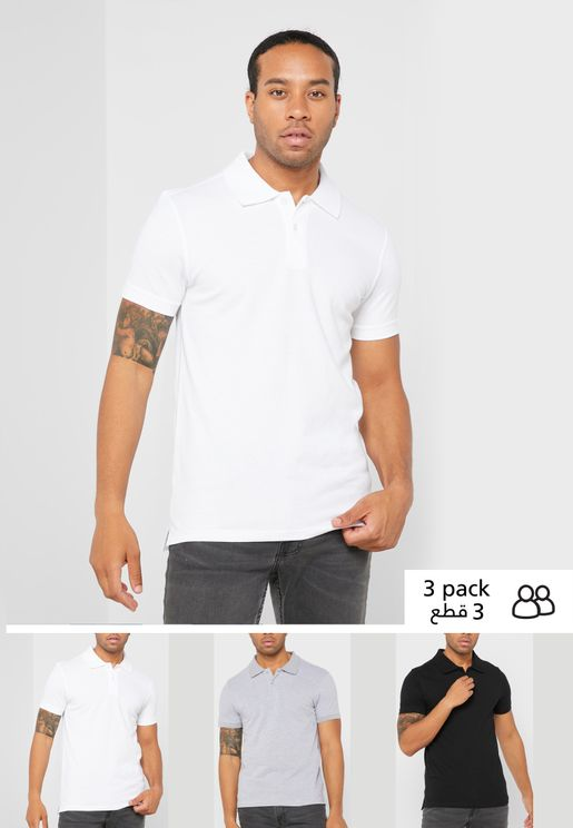 3 pack polo shirt