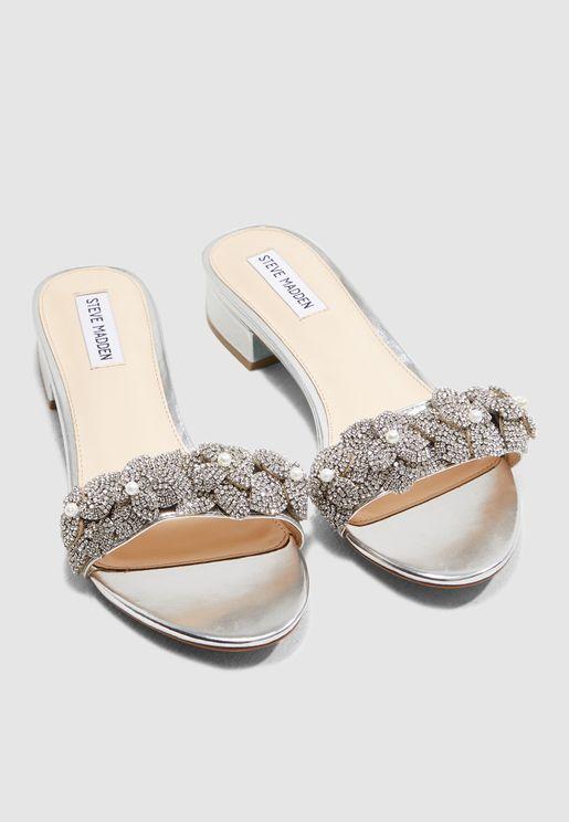 8eb0148bee0 Chlo Sandal-Silver Metallic. Steve Madden. Chlo Sandal-Silver Metallic