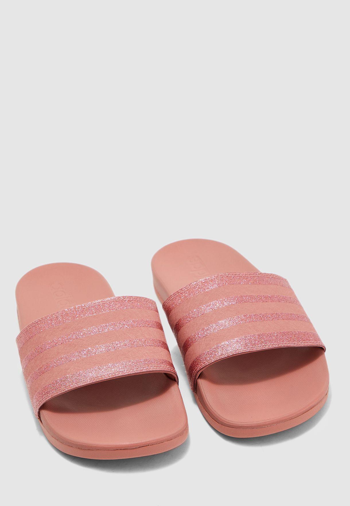 Buy adidas pink Adilette Comfort Slides