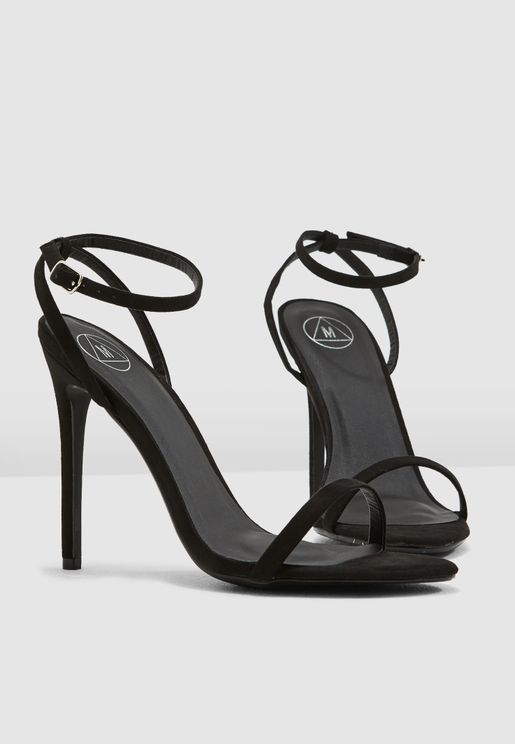 Basic Barely There Heels - Black