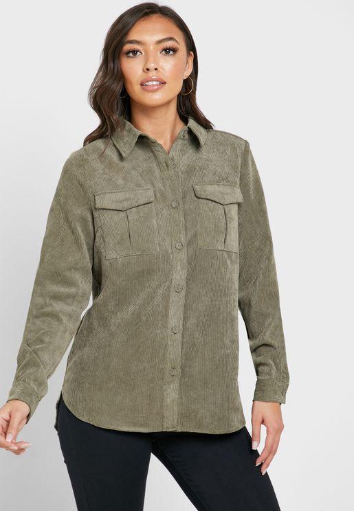 Pocket Detail Long Sleeve Shirt